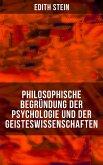 Philosophische Begründung der Psychologie und der Geisteswissenschaften (eBook, ePUB)
