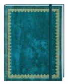Blank Book Lederlook blau (klein) - Einschreibebuch / Notizbuch