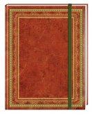 Blank Book Lederlook rotbraun (klein) - Einschreibebuch / Notizbuch