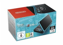 New Nintendo 2DS XL Schwarz + Türkis