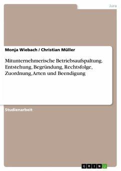 Mitunternehmerische Betriebsaufspaltung. Entstehung, Begründung, Rechtsfolge, Zuordnung, Arten und Beendigung (eBook, ePUB)