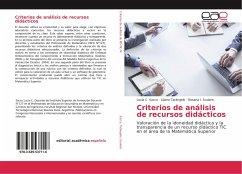 Criterios de análisis de recursos didácticos
