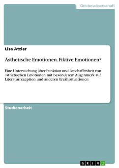 Ästhetische Emotionen. Fiktive Emotionen? (eBook, ePUB)