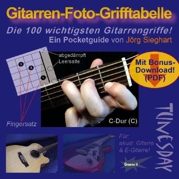 Gitarren-Foto-Grifftabelle im Pocket-Format von Jörg Sieghart ...