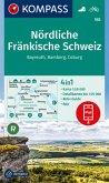 KOMPASS Wanderkarte Nördliche Fränkische Schweiz, Bayreuth, Bamberg, Coburg