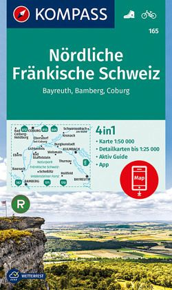 Kompass Wanderkarte Nordliche Frankische Schweiz Bayreuth