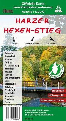 Harzer Hexen-Stieg, Wander- und Fahrradkarte