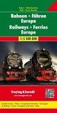 freytag & berndt Auto + Freizeitkarten Bahnen + Fähren Europa, Eisenbahnkarte 1:5,5 Mio., Poster, plano in Rolle; Railwa