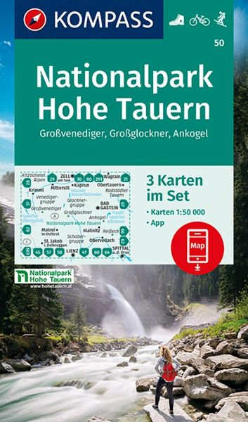 Hohe Tauern Karte.Kompass Wanderkarte Nationalpark Hohe Tauern Großvenediger Großglockner Ankogel
