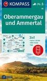 KOMPASS Wanderkarte Oberammergau und Ammertal