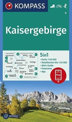 KOMPASS Wanderkarte Kaisergebirge