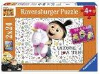 Ravensburger 078110 - Agnes und die Minions, 2x24 Teile, Kinderpuzzle