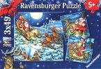 Ravensburger 08032 - Puzzle, Weihnachtszauber, 3 x 49 Teile