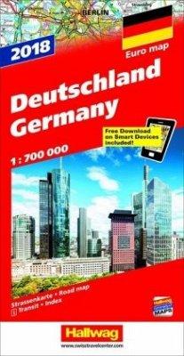 Hallwag Straßenkarte Deutschland Ausgabe 2018