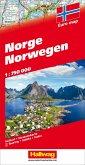 Hallwag Straßenkarte Norwegen