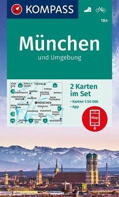 Kompass Karte München und Umgebung, 2 Bl.