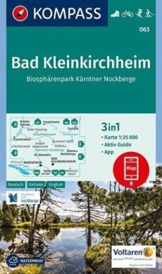 KOMPASS Wanderkarte Bad Kleinkirchheim, Biosphärenpark Kärntner Nockberge