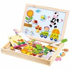 Bino 88117 - Holz-Puzzle-Box, Magnet und Schreibtafel