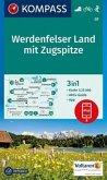 Kompass Karte Werdenfelser Land mit Zugspitze