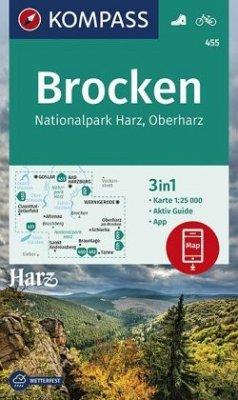 Kompass Karte Brocken, Nationalpark Harz, Oberh...
