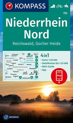 Kompass Karte Niederrhein Nord, Reichswald, Goc...