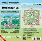 NaturNavi Wanderkarte mit Radwegen Hochtaunus