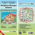 NaturNavi Wanderkarte mit Radwegen Bietigheim-Bissingen - Beilstein