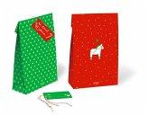 Weihnachten Geschenktüten-Set