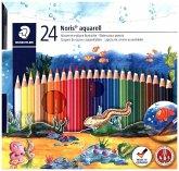Farbstift Noris Club aquarell, 24 Stück und Pinsel
