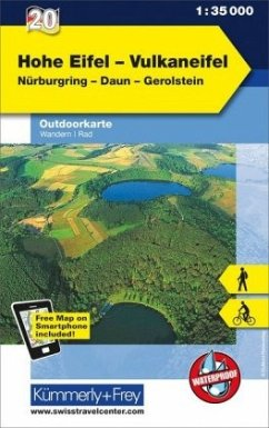 Kümmerly & Frey Outdoorkarte Hohe Eifel, Vulkan...