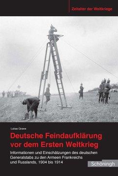 Deutsche Feindaufklärung vor dem Ersten Weltkrieg - Grawe, Lukas