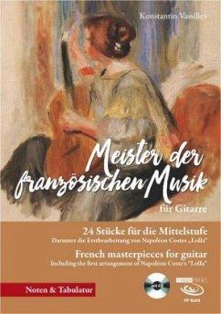 Meister der französischen Musik für Gitarre, m....