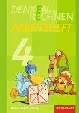 Denken und Rechnen 4. Arbeitsheft. Grundschulen. Baden-Württemberg