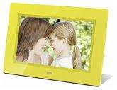 Braun DigiFrame 711 gelb 17,8 cm (7 Zoll) Bilderrahmen (800 x 480 Pixel, 16:9 Seitenverhältnis)