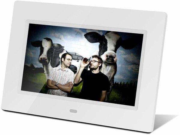 braun digiframe 711 wei 17 8 cm 7 zoll bilderrahmen 800 x 480 pixel 16 9 portofrei bei. Black Bedroom Furniture Sets. Home Design Ideas
