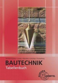 Tabellenbuch Bautechnik - Kickler, Jens; Lindau, Doreen; Mentlein, Horst; Peschel, Peter; Schulzig, Sven; Trutzenberg, Tobias