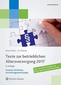 Texte zur betrieblichen Altersversorgung 2017