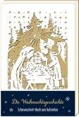 Scherenschnitt-Buch - Die Weihnachtsgeschichte