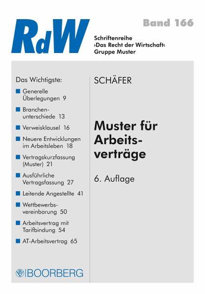 Muster Für Arbeitsverträge Ebook Epub Von Gerd Schäfer
