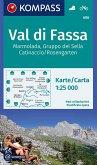 KOMPASS Wanderkarte Val di Fassa, Marmolada, Gruppo del Sella, Catinaccio/Rosengarten