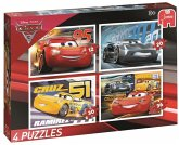 Jumbo 19613 - Disney Cars 3, 4 Puzzle in einer Box, 12/20/30/36 Teile