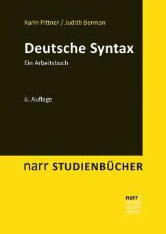 Deutsche Syntax (eBook, PDF) - Pittner, Karin; Berman, Judith