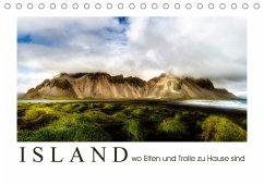Island wo Elfen und Trolle zuhause sind (Tischkalender 2018 DIN A5 quer)