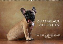 Charme auf vier Pfoten - Französische Bulldoggen Portraits (Wandkalender 2018 DIN A2 quer) Dieser erfolgreiche Kalender wurde dieses Jahr mit gleichen Bildern und aktualisiertem Kalendarium wiederveröffentlicht.
