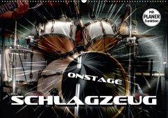 Schlagzeug onstage (Wandkalender 2018 DIN A2 qu...