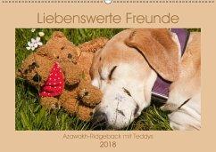 Liebenswerte Freunde - Azawakh-Ridgeback mit Teddys (Wandkalender 2018 DIN A2 quer) Dieser erfolgreiche Kalender wurde dieses Jahr mit gleichen Bildern und aktualisiertem Kalendarium wiederveröffentlicht.