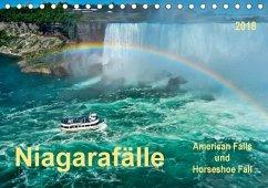 Niagarafälle - American Falls und Horseshoe Fall (Tischkalender 2018 DIN A5 quer) Dieser erfolgreiche Kalender wurde dieses Jahr mit gleichen Bildern und aktualisiertem Kalendarium wiederveröffentlicht.
