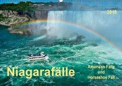 Niagarafälle - American Falls und Horseshoe Fall (Wandkalender 2018 DIN A2 quer) Dieser erfolgreiche Kalender wurde dieses Jahr mit gleichen Bildern und aktualisiertem Kalendarium wiederveröffentlicht.