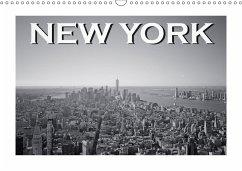 New York in schwarz weiss (Wandkalender 2018 DIN A3 quer)