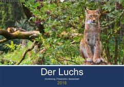 Der Luchs - Hochbeinig, Pinselohren, Backenbart (Wandkalender 2018 DIN A2 quer) Dieser erfolgreiche Kalender wurde dieses Jahr mit gleichen Bildern und aktualisiertem Kalendarium wiederveröffentlicht.